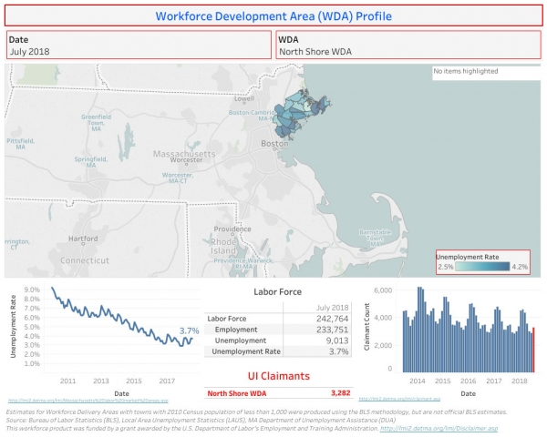 Workforce Development Area Profile Map