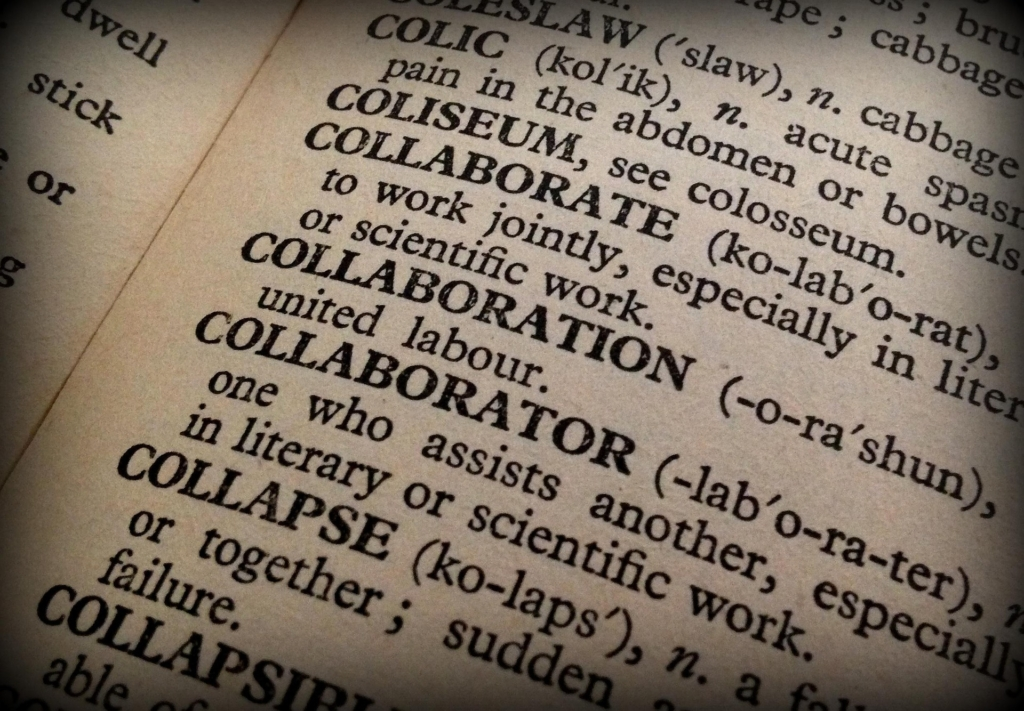 dictionary page of collaboration