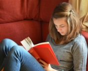 Young person reading